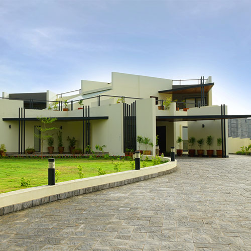 a farmhouse with a new zeal and design.A completely modern feel of the architecture
