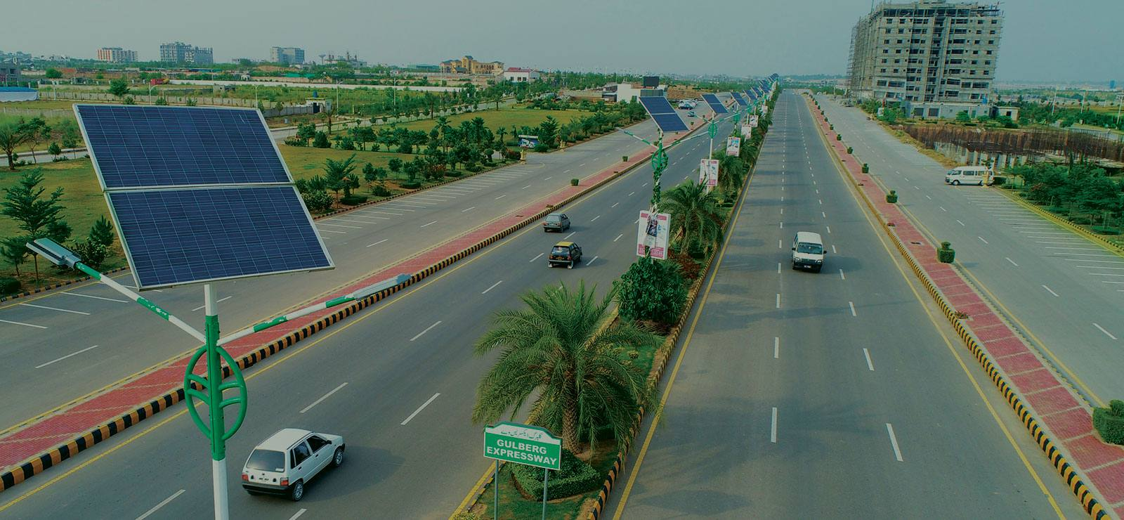 Wide road network Gulberg Islamabad